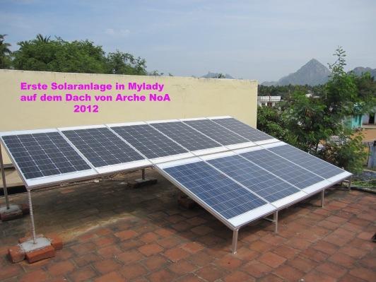 Erste Solaranlage in Mylaudy